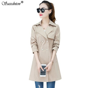 2020 New Spring Autumn Casual Thin Trench Coat Double Breasted Trench Coat Woman Long Windbreakers Trench Coat Women Overcoat fashion new women trench coat long double breasted belt blue khaki lady clothes autumn spring outerwear