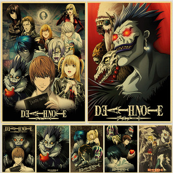 Classic Anime Series Death Note Posters Retro Canvas Painting Wall Art Print Poster Nature Decorative Picture Home Decor image
