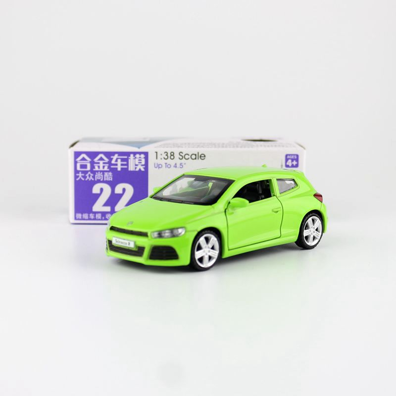 1:38 Scale/Diecast Toy Model/Volkswagen Scirocco R/Super Sport Racing Car/Educational Collection/Pull Back/Gift For Children