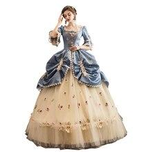 Элитные корт рококо барокко Marie Antoinette Бальные платья 18 век Ренессанс, платье для женщин