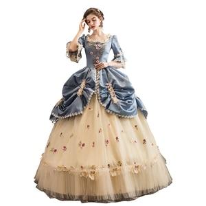 Высококачественное бальное платье в стиле рококо, бальное платье Марии-Антуанетты в стиле барокко времен исторического возрождения 18-го ве...