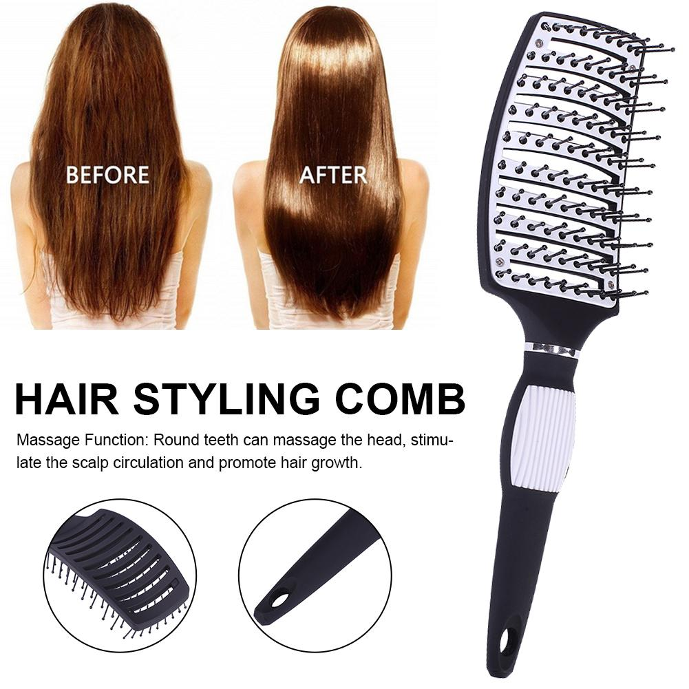 New Hair Brushes Curved Vented Styling Hair Brush Detangling Thick Hair Massage Blow Drying Brush Massage Hair Comb 5