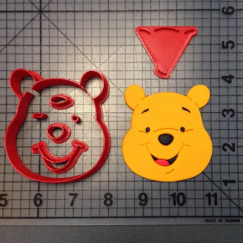 Cartoon Winnie The Pooh Cookie Cutter Kitchen Baking Supplies Cake Icing Decoration Mold Soft Candy Tool Set 3D Customization