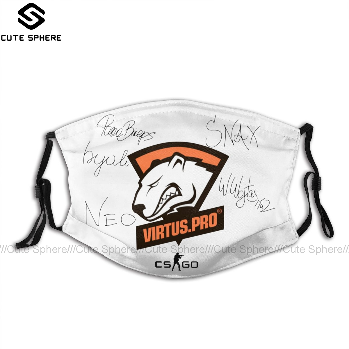 Virtus Pro Mouth Face Mask Virtus Pro Signed Players Facial Mask Funny Kawai With 2 Filters For Adult