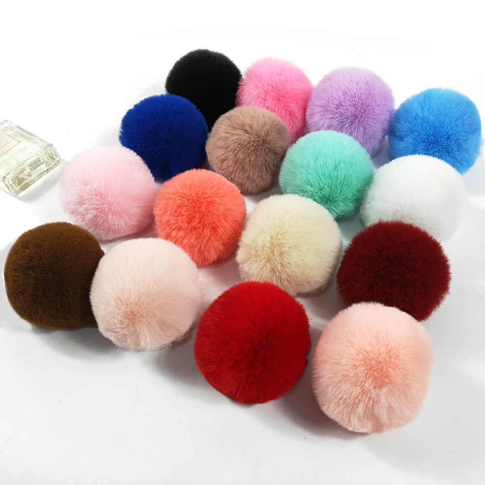 8 Cm DIY Bola Berbulu Suruh Keputusan Pengaruh Faux Bulu Pompom Besar Multicolor Plush Pom Pom untuk Kerajinan Garland Dekoratif Gantungan Kunci Pakaian dekorasi
