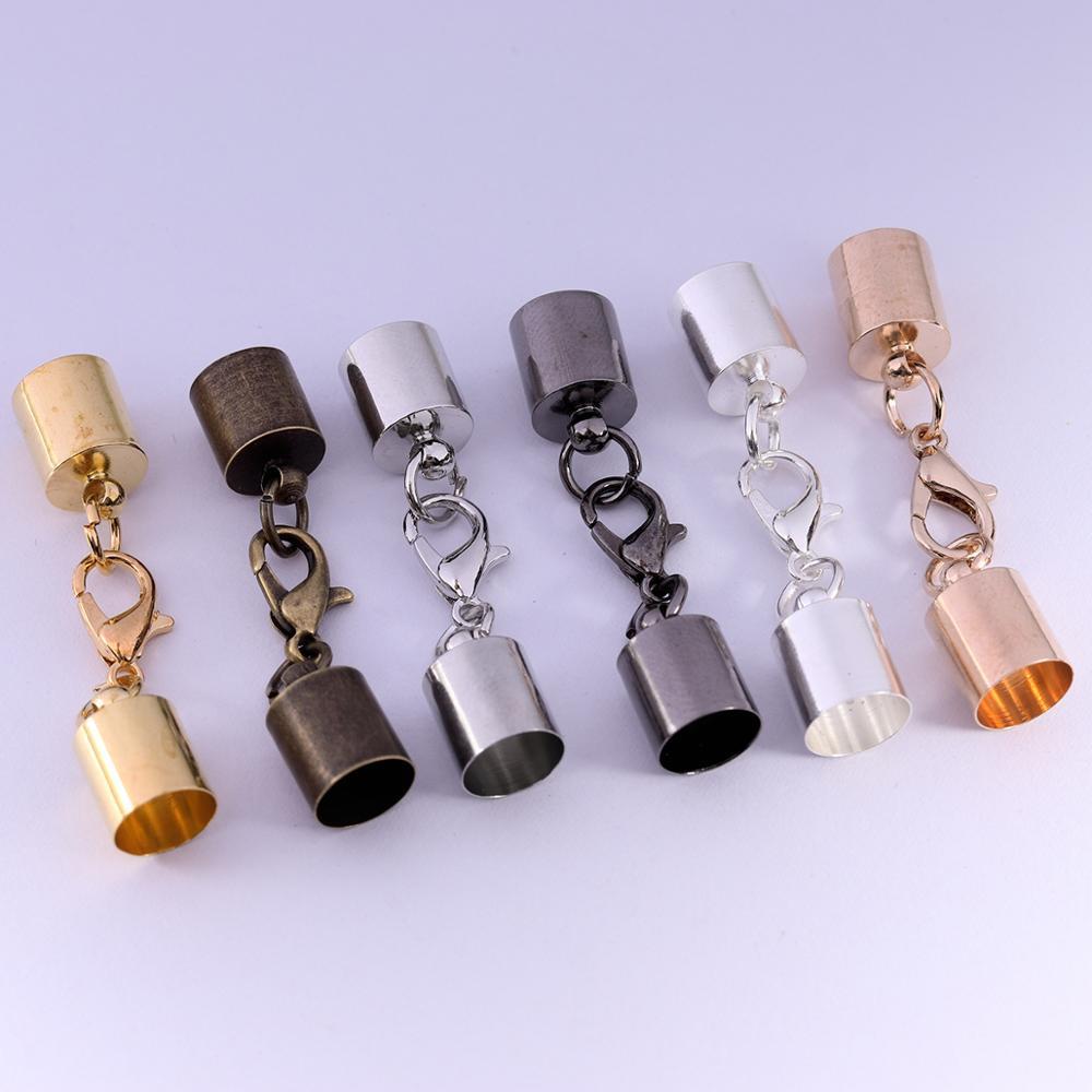 10 шт/лот 3 4 5 6 7 8 9 мм кожаные шнуры браслет ожерелье застежки