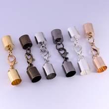 Fermoirs mousquetons pour fabrication de bijoux, 10 pièces/lot, 3, 4, 5, 6, 7, 8, 9, 10mm