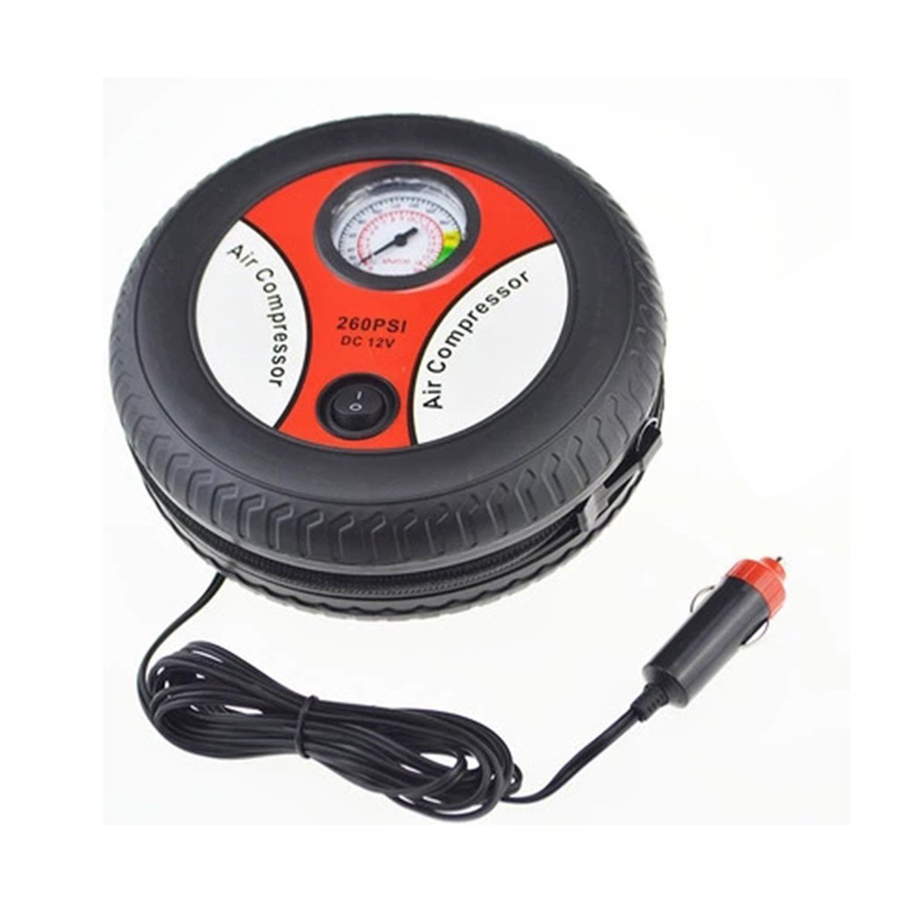 Car Tire Inflation Pump Air Compressor Mini Tire Design 12V Input Voltage Electric Inflating Machine Suitable For Most Cars