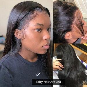 Image 3 - ישר תחרה מול פאה מראש קטף שיער טבעי פאות צבע טבעי 4x4 5x5 6x6 7x7 סגירת פאה בתפזורת מכירה רמי Jarin שיער
