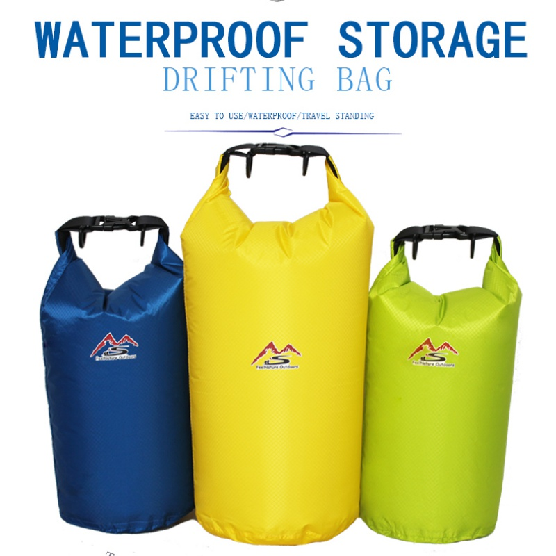 5/10/20/30 L Outdoor Waterproof Bag Nylon Waterproof Dry Bag Lemon Yellow For Camping Drifting Hiking Swimming Rafting Kayaking