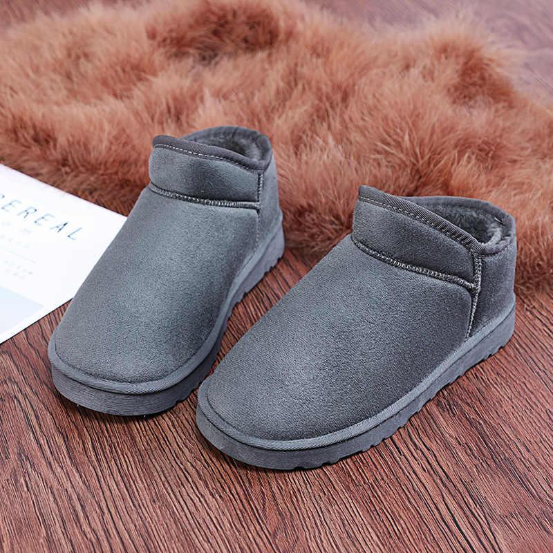 HIVER Coton Chaussons Chaussures Pour Hommes Femmes Camping Maison Pieds Chaud Chaussons