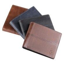 Высокое качество, мужской двойной кожаный бумажник, мужской бизнес, искусственная кожа, зажим для денег, держатель для кредитных карт, кошелек, клатч, кошелек