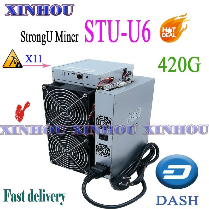 DASH Asic górnik StrongU górnik STU-U6 420G X11 lepiej niż Antminer D3 D5 FusionSilicon X7 Innosilicon A5 A6 Baikal G28 X10