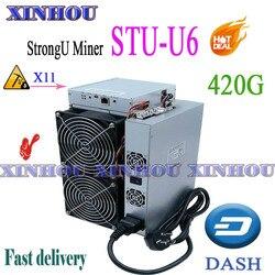 Dash Asic Mijnwerker Strongu Mijnwerker STU-U6 420G X11 Miner Beter dan Antminer D3 D5 Fusionsilicon X7 Innosilicon A5 A6 baikal G28 X10