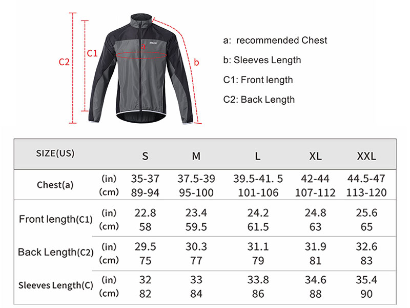 Men Cycling Windbreaker Cycling Jacket Mountain Bike Jersey Rain Coat Reflective