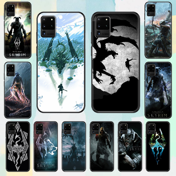 Game The Elder Scrolls Skyrim Phone case For Samsung Galaxy Note 4 8 9 10 20 S8 S9 S10 S10E S20 Plus UITRA Ultra black trend image