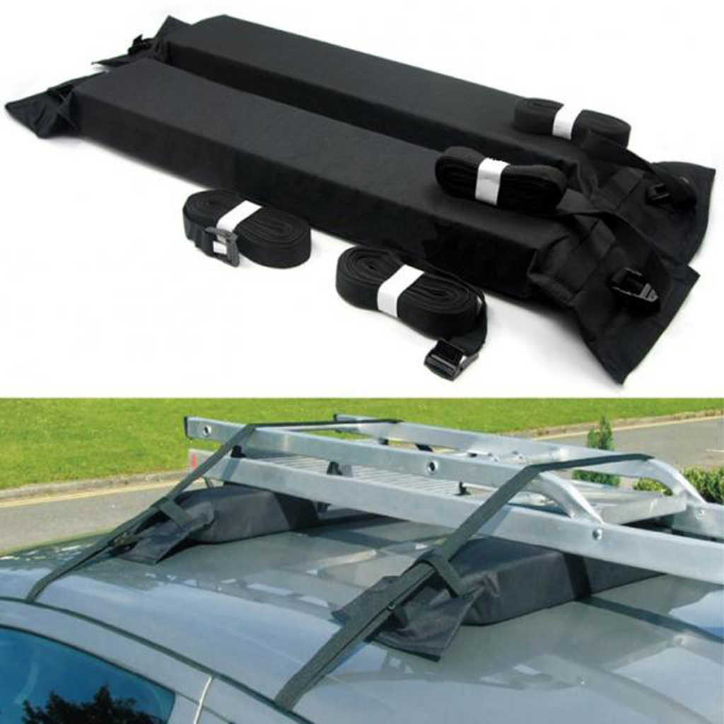 Universal Mobil SUV Van Top Roof Rack Kayak Kano Perjalanan Bagasi Kargo Carrier-Hitam