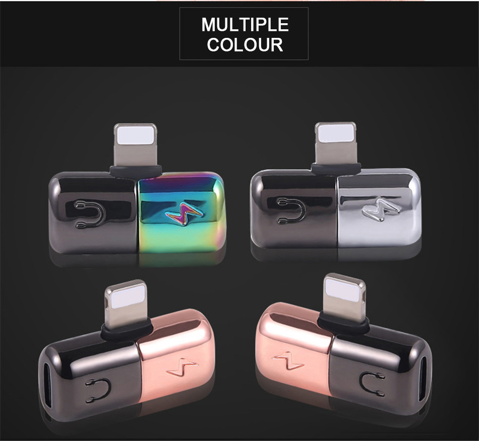 !ACCEZZ Mini Adapter For iphone X 8 7 Plus XS Max XR Headphone Adaptador For iphone Single Jack Charge Call Listen AUX Splitter (8)