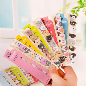 Bookmarks Planner Stationery Paper-Stickers Memo-Pad School-Supplies Index Animals Creative