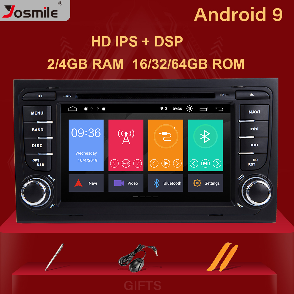 4GB 2 Din Car Radio GPS Android 9.0 Car DVD Player for <font><b>Audi</b></font> <font><b>A4</b></font> B8 S4 <font><b>B6</b></font> B7 RS4 8E 8H B9Seat Exeo 2002-2008 Navigation <font><b>Multimedia</b></font> image