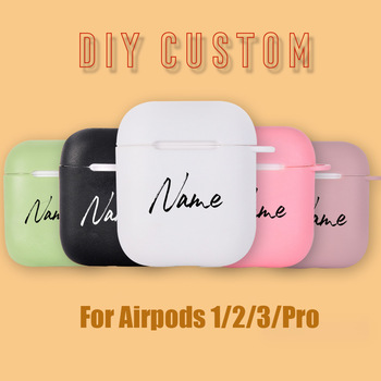 Custom name/logo/image Soft Silicone Case for Air Pods Case for Bluetooth Wireless Airpod Cover DIY Customized Photo Letters Hot 1