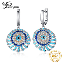 Bohemian Boho Simulated Turquoise Drop Earrings 925 Sterling Silver Earrings For Women Gem Korean Earrings Fashion Jewelry 2019 недорого