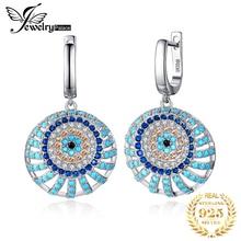 цена на Bohemian Boho Simulated Turquoise Drop Earrings 925 Sterling Silver Earrings For Women Gem Korean Earrings Fashion Jewelry 2019