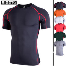 Men Running Cycling T-Shirts Jersey Shorts Breathable Quick Dry Sports Bike Wear Tea Tops Ropa Deportiva Hombre Gym Shirt Men