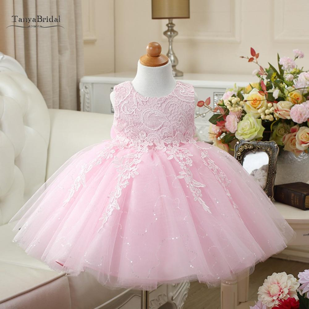 Princess 3D-Floral Appliques   Flower     Girls     Dresses   Puffy Ball Gown Communion   Dress   For Wedding Party XF005