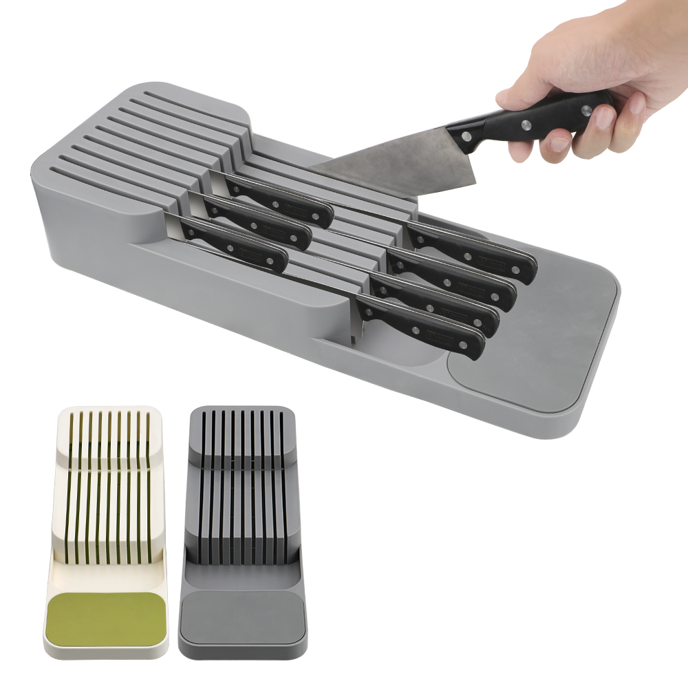 NICEYARD Separation Storage Organizer Cutlery Storage Box Drawer  Knife Storage Tray Knife Storage Rack Kitchen Tool