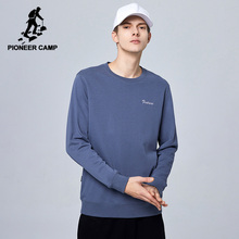 Pioneer Camp 2020 New Spring Summer Cotton Hoodied Mens Sweatshirts Solid O neck Hoodies Men Sportswear Zipper AWY0107029