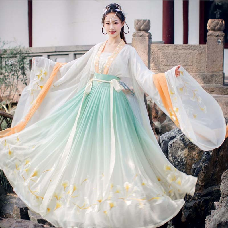 Women Hanfu Chinese Ancient Tradition Wedding Party Dress Deluxe Female Carnival Princess Costume Outfit For Lady Plus Size 3XL