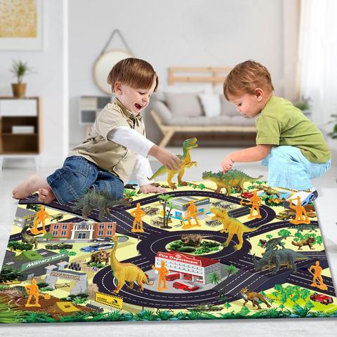 criancas dinossauro brinquedo simulacao animal modelo dinossauro parque boneca jogo tapete cena 17