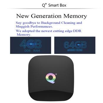 Q Plus Android 9.0 TV Box 6K Smart TV Box 4GB RAM 64GB Allwinner H6 Quad Core H.265 USD3.0 2.4G Wifi Google Play store Youtube