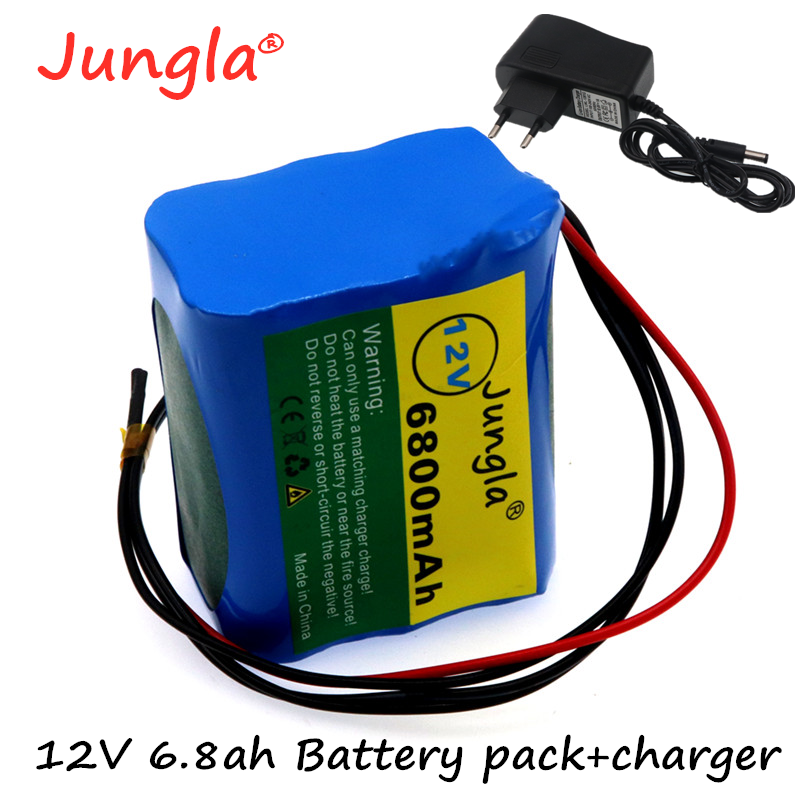 2020 New <font><b>12V</b></font> 6.8 Ah 6800mAh <font><b>18650</b></font> Rechargeable <font><b>batteries</b></font> <font><b>12V</b></font> with BMS Lithium <font><b>Battery</b></font> <font><b>pack</b></font> Protection Board +12.6V 1A Charger image