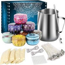 Scented Candle DIY Kit Soy Wax Wicks Mixing Spoon Complete Set