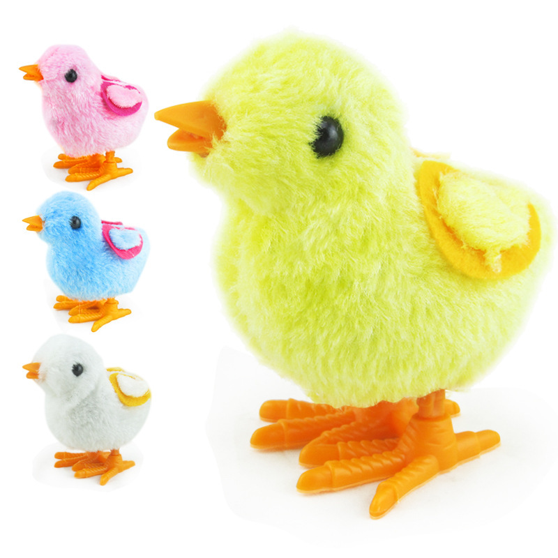 Jing Dian Nv Hai Infants Men's Nostalgic Winding Plush Chickens Toy Children Spring Unisex Stall Currently Unavailable