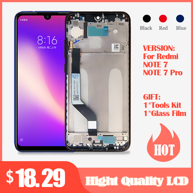 10-Touch <font><b>LCD</b></font> For Xiaomi <font><b>Redmi</b></font> <font><b>Note</b></font> <font><b>7</b></font> <font><b>LCD</b></font> With Frame Display Screen Replacement For <font><b>Redmi</b></font> Note7 <font><b>Pro</b></font> <font><b>LCD</b></font> Parts Global Version image