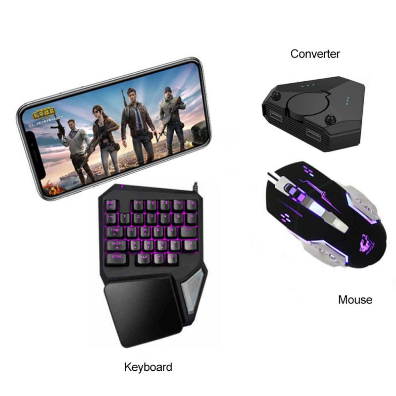 Gamepad PUBG Mobile Gamepad Controller Mobile Gaming <font><b>Keyboard</b></font> Mouse <font><b>Converter</b></font> For Android ios Phone IPAD <font><b>Bluetooth</b></font> 5.0 New image