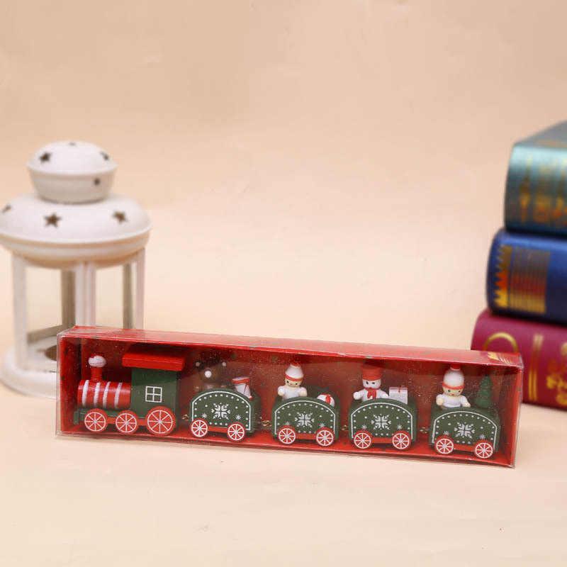 Đồ Dùng Trang Trí Giáng Sinh Năm Phần Tàu Giáng Sinh Hoạt Hình Trẻ Em Tặng Cửa Sổ Gỗ Trang Trí Nhà Máy Bán Buôn
