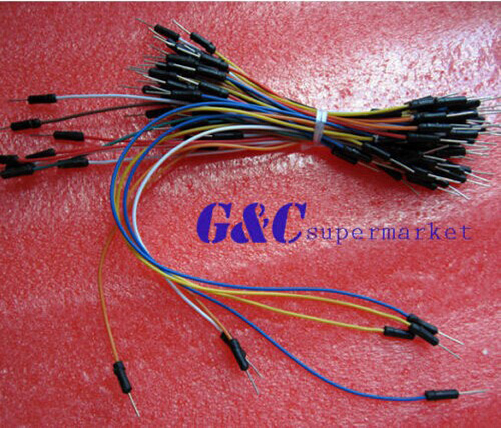 5PCS male to male flexible breadboard jumper cable Wes 65Pcs electronic accessories cable