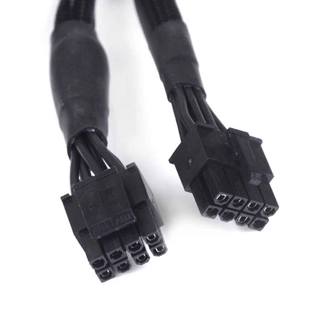 Nueva CPU negra de 8 pines a 8 (4 + 4) -Cable de alimentación Modular Pin para Corsair RM550X RM650X RM750X RM850X RM1000X