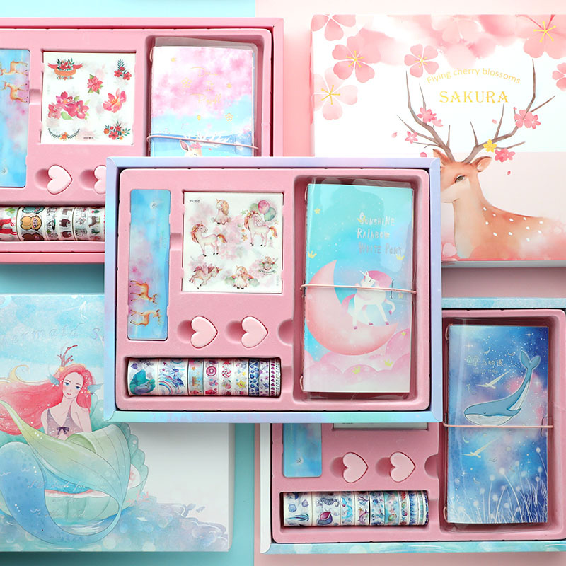 Cute ELK Traveler Notebook Set DIY Diary Journal Wonderful Agenda Planner Organizer Monthly Plan Daily Note Book School Handbook