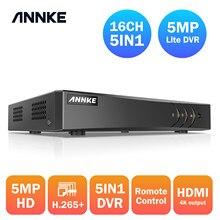 ANNKE 16CH 5MP Lite 5in1 AHD DVR supporto CVBS TVI AHD telecamere IP analogiche HD P2P Cloud H.264 videoregistratore VGA Audio RS485