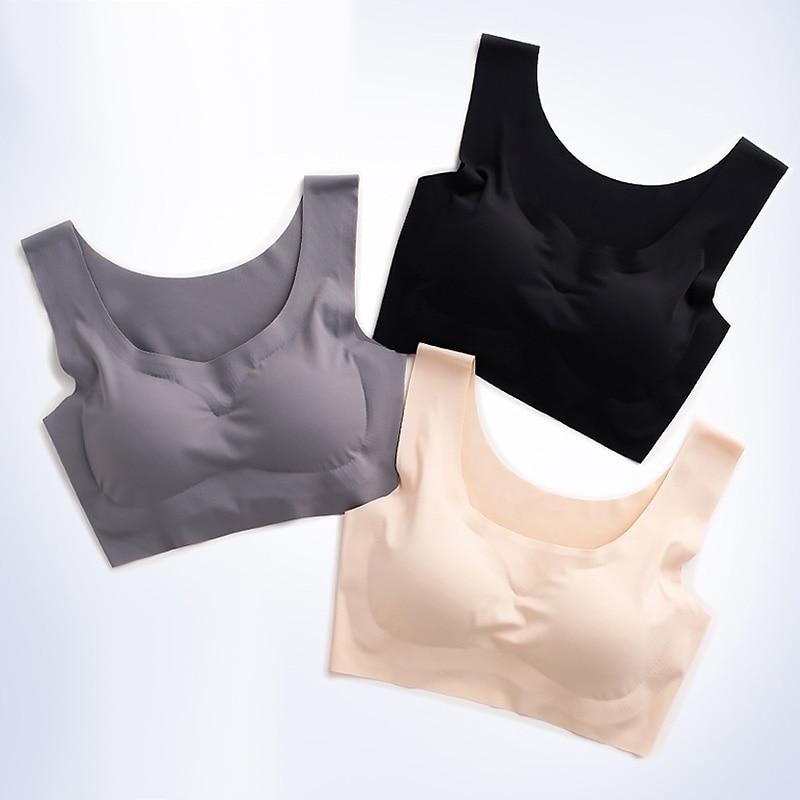 Sexy Bras For Women Seamless Easy Comfort Bra Push Up Wirefree Bralette Lingerie Bh Vest Padded Brassiere Sleeping Underwear(China)