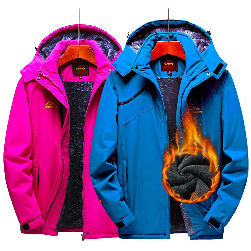 Ski Jacket Men And Women Waterproof Thermal Fleece Jacket Outdoor Windproof Snow Coat Camping Hiking Skiing Snowboard Jacket Men
