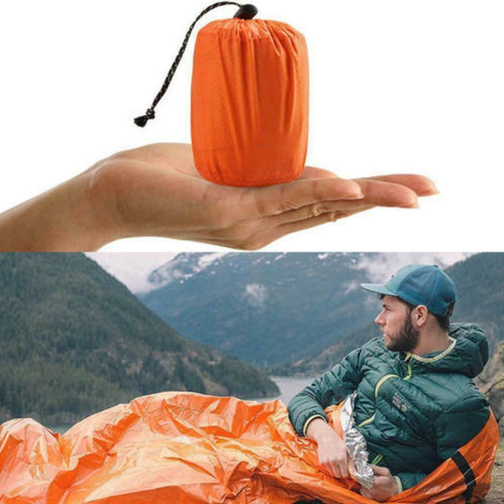 Emergency Sleeping Bag Emergency First Aid Sleeping Bag PE Aluminum Film Tent For Outdoor Camping and Hiking Sun Protection