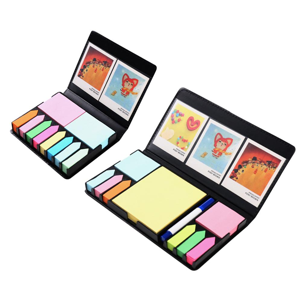 Colored Sticky Note Sets Self-Stick Note Box Sets With Page Markers Index Tabs Flags