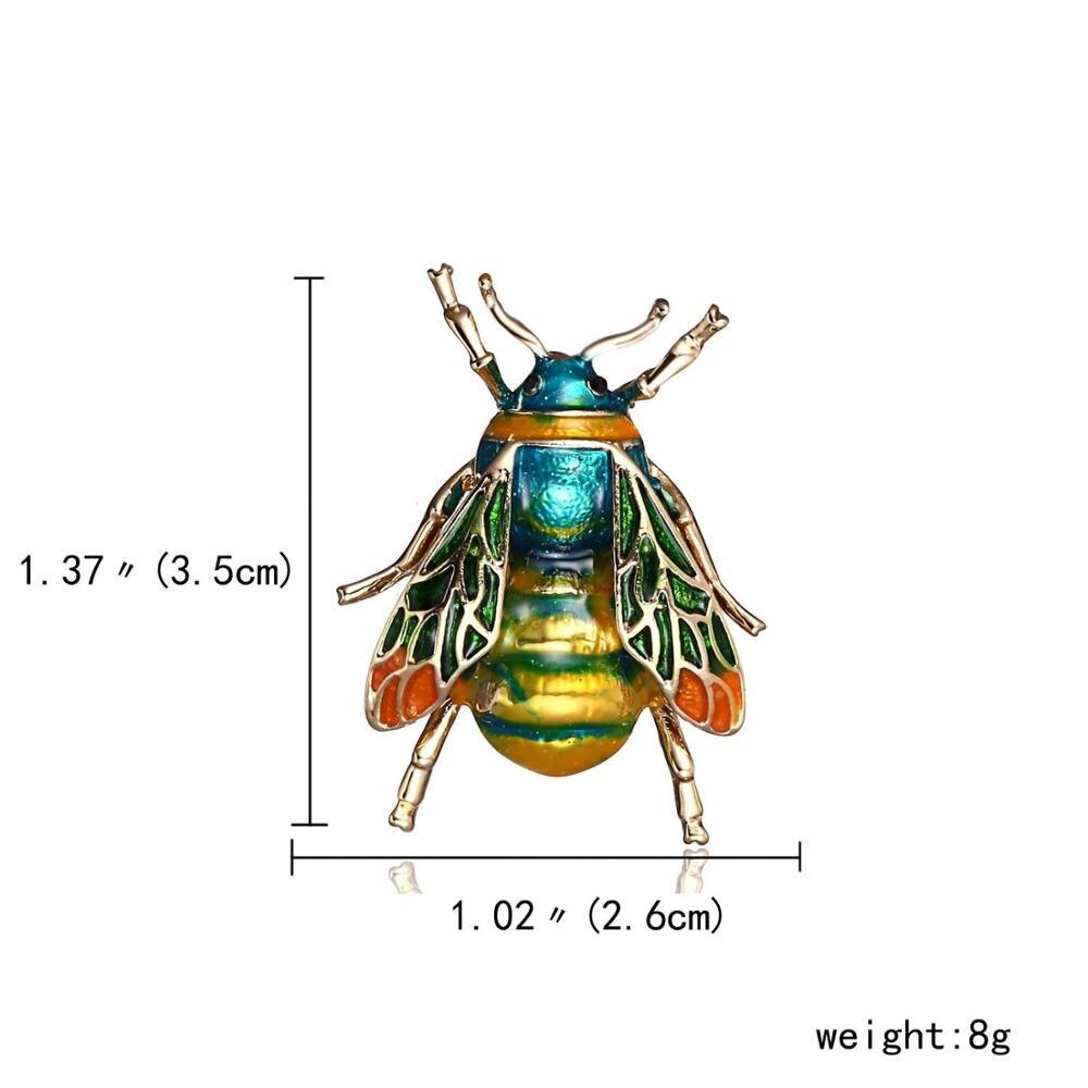 Vintage Enamel Bee Brooch Pin Shirt Animal Metal Pin Clothing Accessories Fad+