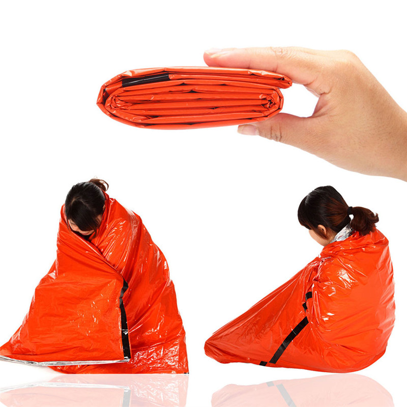 Blanket Outdoor Waterproof Blanket Piece Rainsuit Emergency Blanket Cobijas Blankets Survival Manta Prueba Frio Camping Blanket